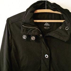 Prana Black Bomber Style Jacket / Large